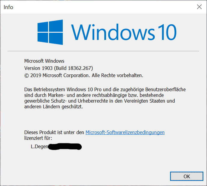 Windows 10 Version 1903